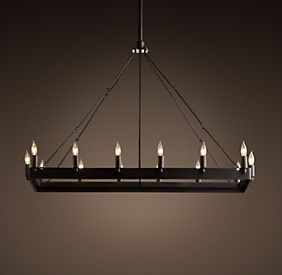 Ceiling Restoration Hardware Wrought Iron Candle Chandelier