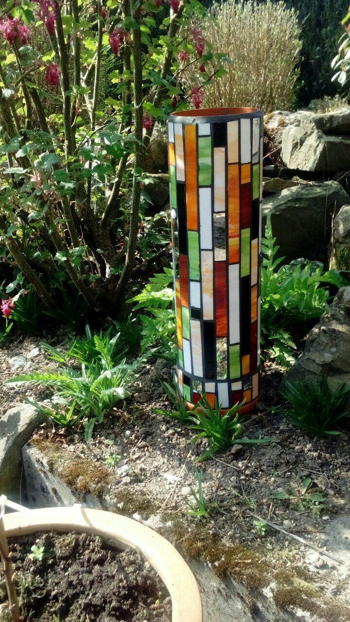 mosaiks ule mit tiffanyglas mosaik garten pinterest. Black Bedroom Furniture Sets. Home Design Ideas