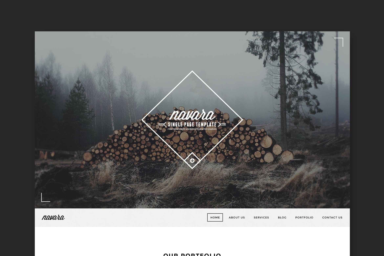 Navara - Vintage Single Page PSD by PremiumLayers on   Логотип