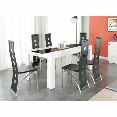 Damia Ensemble Table A Manger 6 A 8 Personnes 6 Chaises
