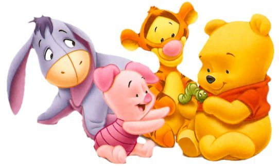 It is a photo of Nerdy Baby Winnie the Pooh and Friends