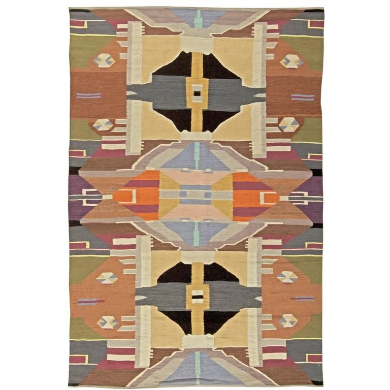 Swedish Design Rug | From a unique collection of antique and modern russian and scandinavian rugs at https://www.1stdibs.com/furniture/rugs-carpets/russian-scandinavian-rugs/