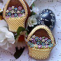 Basket with flower cookie - Prodané zboží uživatele Drakota