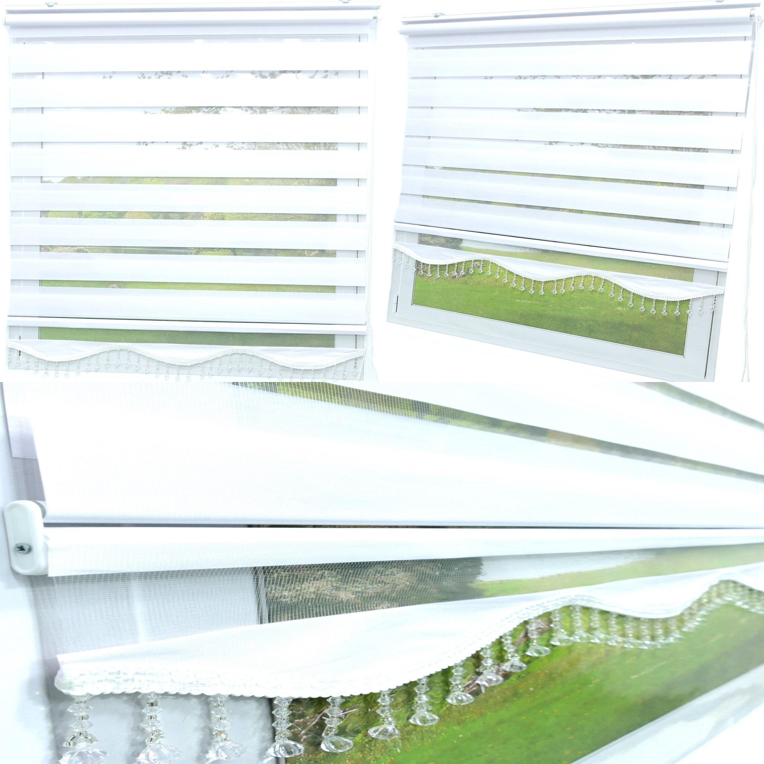 Doppelrollo Weiss Klemmfix Duo Rollo Ohne Bohren Fur Fenster Tur Anbringen Gardinen Mit Kristall Perlen Jalousie Raff Fenster Und Turen Rollos Rollo Ohne Bohren