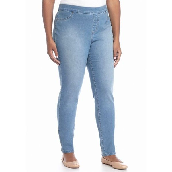 009da1ddbe8 New Directions Weekend Elm Light Wash Plus Size Pull-On Denim Jeans ...
