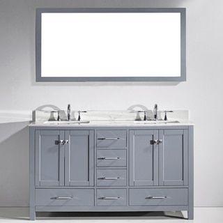 virtu usa caroline avenue 60inch double sink bathroom vanity cabinet only by virtu usa