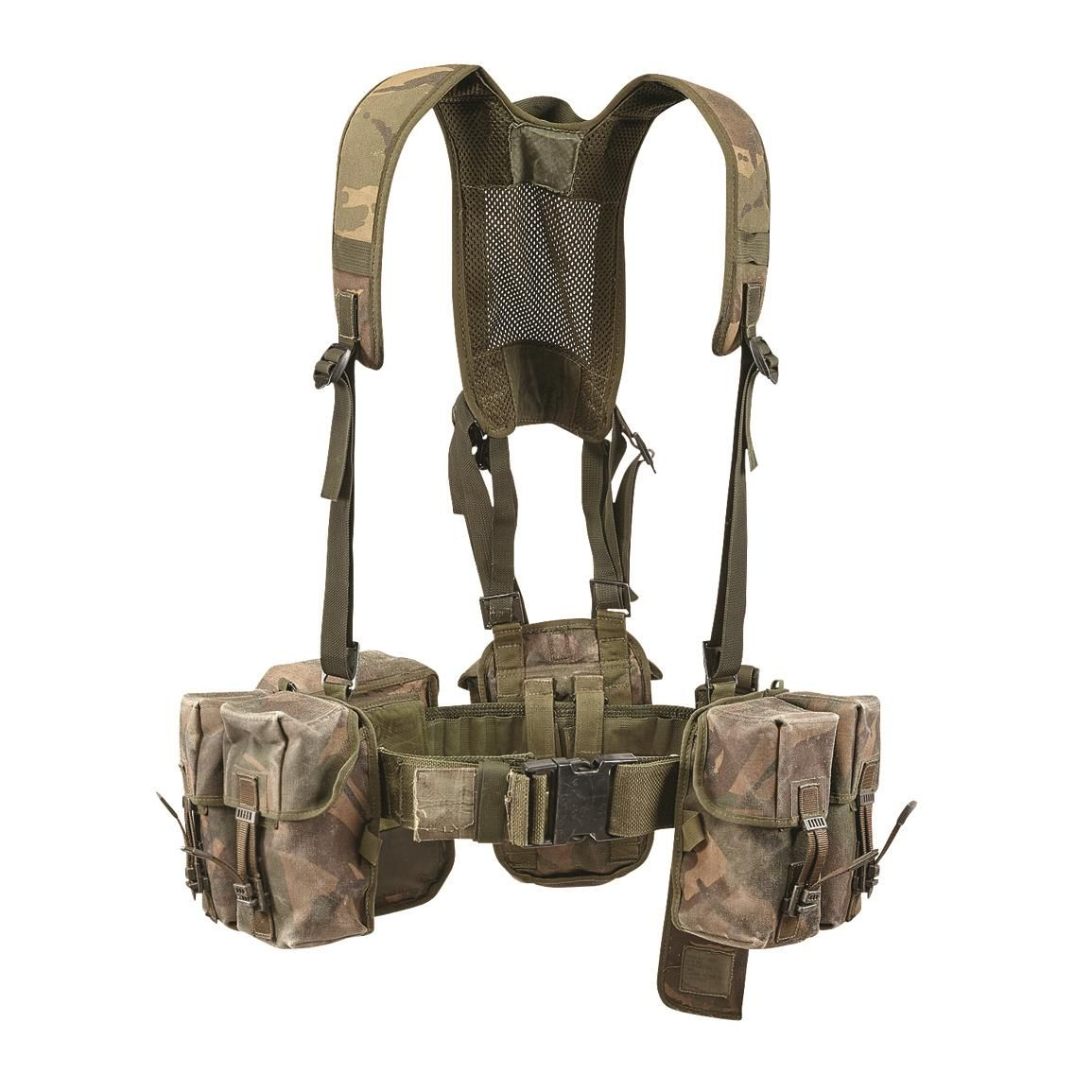 British Military Surplus 5 Pouch Load-Bearing Vest, Like New