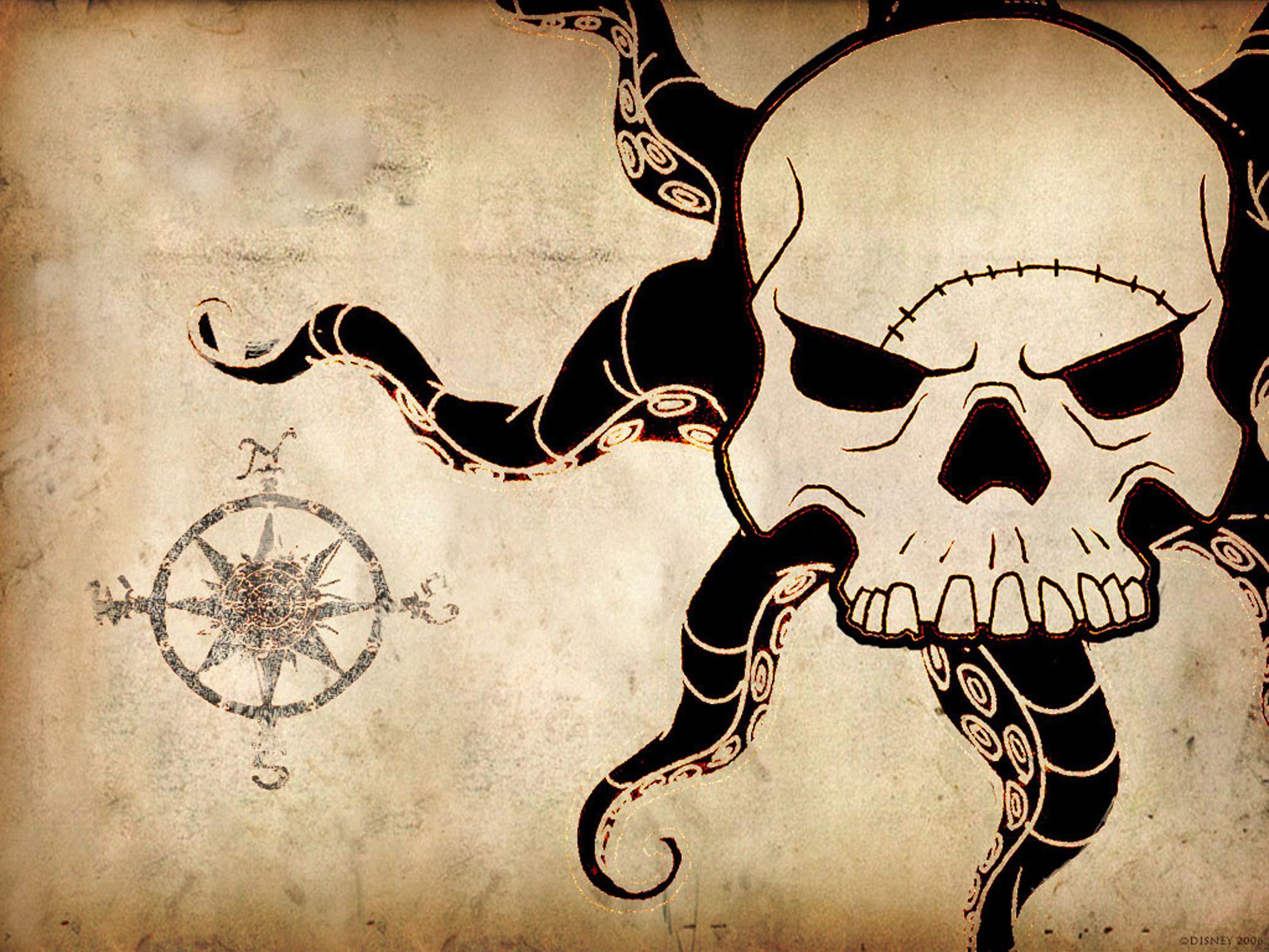 Kraken Map Wallpapers 2133x1600 786698 Movie Poster Art Pirates Of The Caribbean Pineapple Art