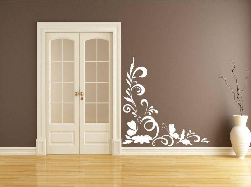 Muursticker Bloem hoek sierlijst   Huis decoratie   Pinterest
