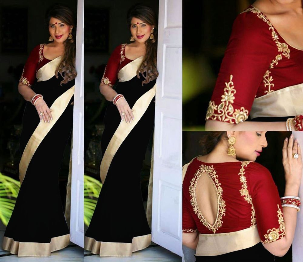 Velvet saree images pin by shubham on eid special designer saree  pinterest  saree