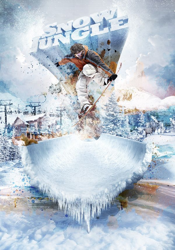 How To Use Selections For Extreme Sports Effects Expert Photoshop Artist  Mike Campau Breaks Down His Popular Snow Jungle Artwork To Show Us How Itu0027s  Done