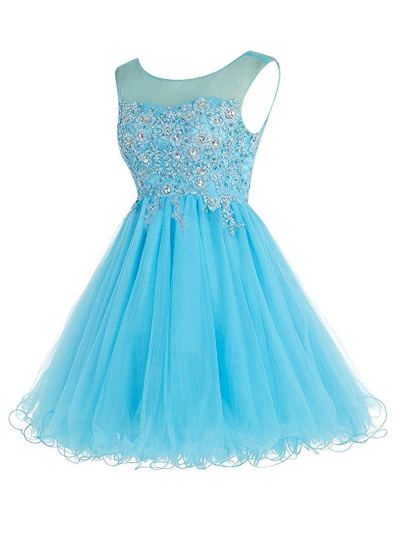 Short Puffy Homecoming Dresses Vestidos Cortos Anos Cheap