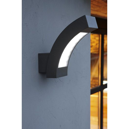 applique montante ext rieure kendal led int gr e gris