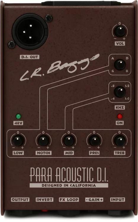 Lr Baggs Para Di Acoustic Guitar Preamp Di With 5 Band Eq Guitar Strings Acoustic Acoustic Guitar