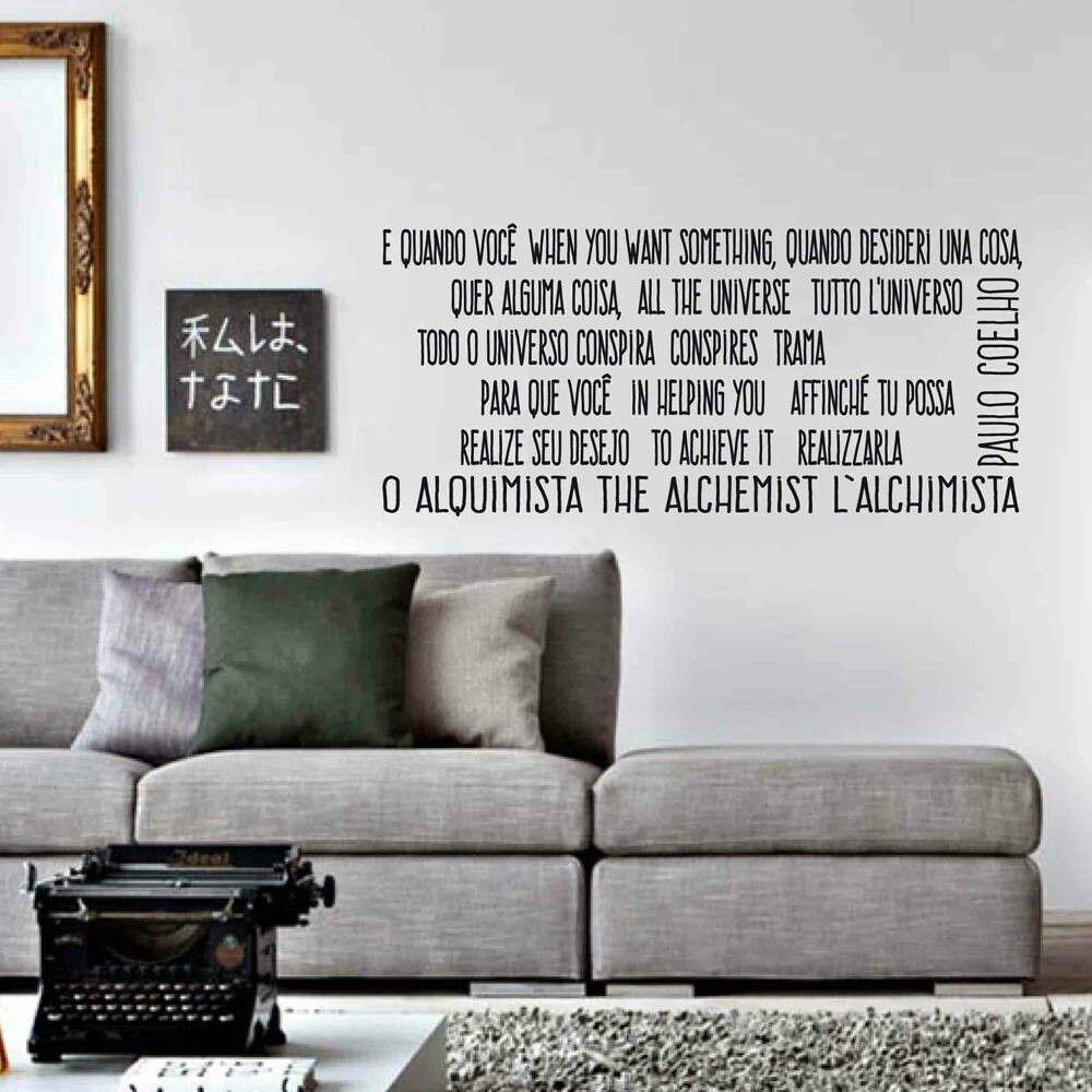 Wall Sticker Paulo Coelho Quotes In Vendita Nel Mio Negozio  # Muebles Vikings Cl
