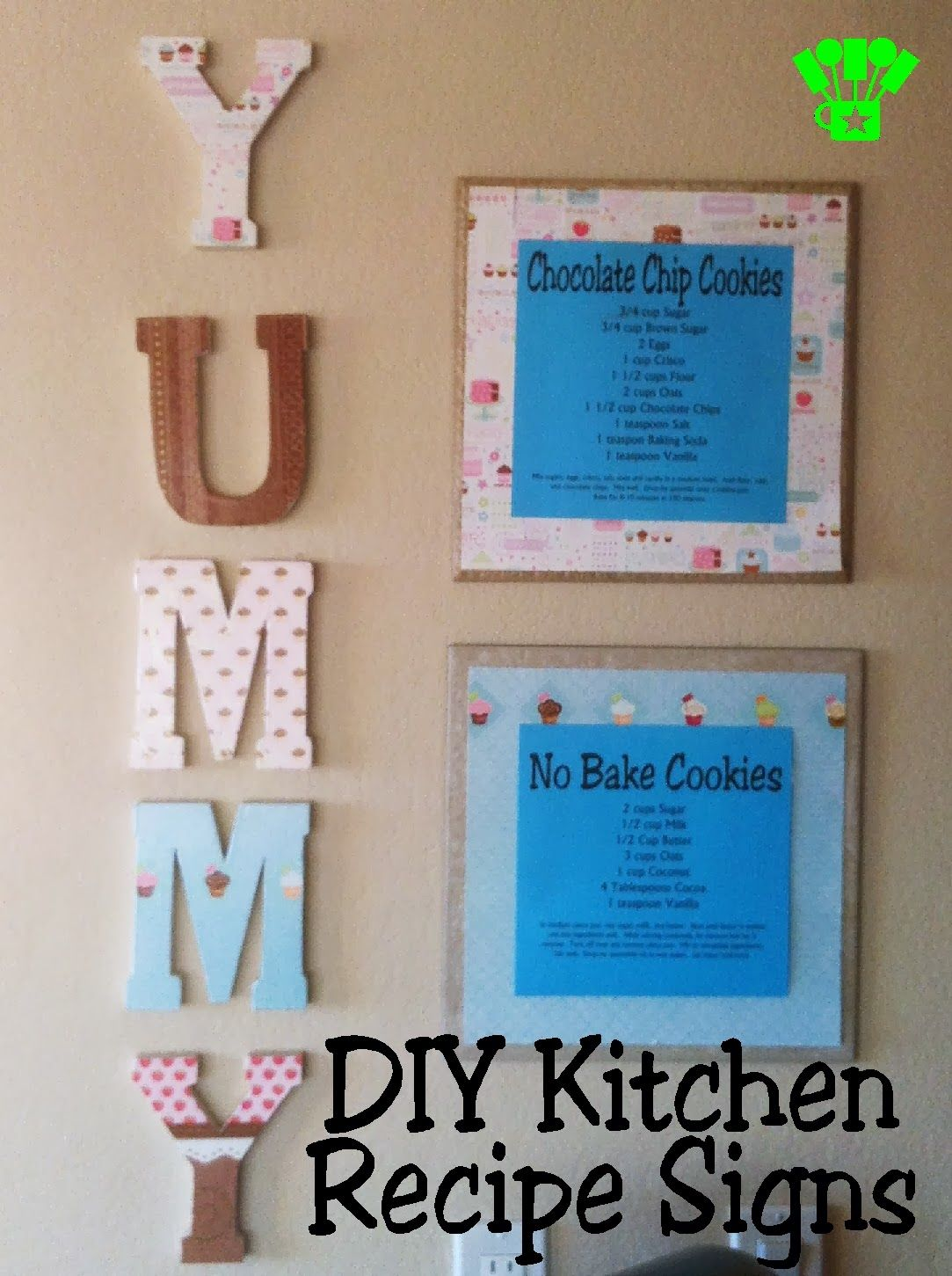 DIY Kitchen Recipe Signs by Kims Kandy Kreations. Renters can ...