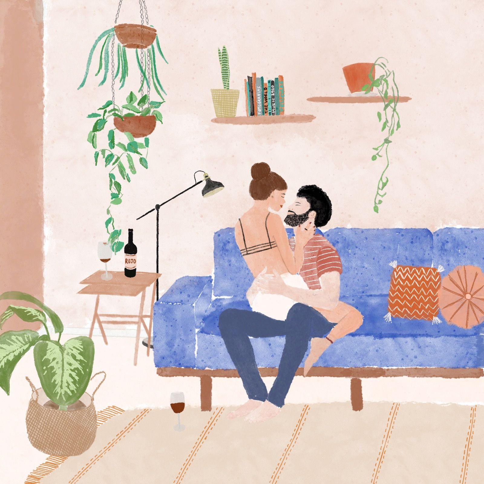 Stay home illustration (@deborachodik) in 2020