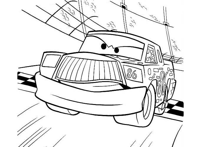 Cars chick hicks coloring pages disegni da colorare - Coloriage cars chick hicks ...