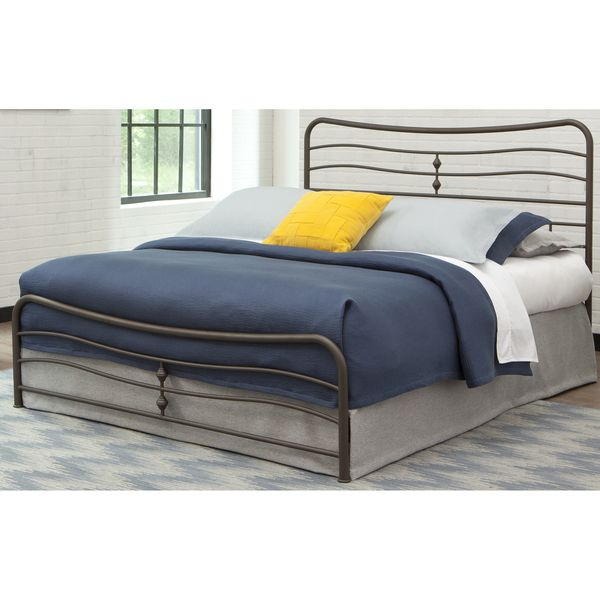 fashion bed group b4125 cosmos snap bed with flowing curves panel design and folding metal side