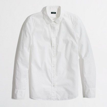 Factory essential white button-down | J.Crew Factory | my jamz ...