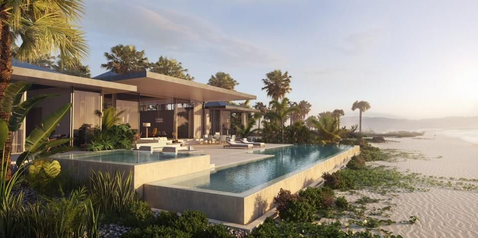 Wondering Where To Stay When You Are In Cabo San Lucas Check Out Our Exclusive Look Inside The New Beachfront House Beach House Design Modern Beachfront House