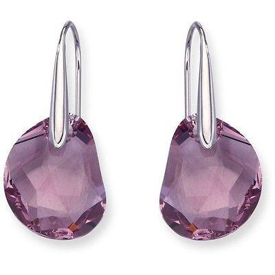 346e0c05e $75 SWAROVSKI Galet Pierced Earrings # 5023083 Lavender | Swarovski ...