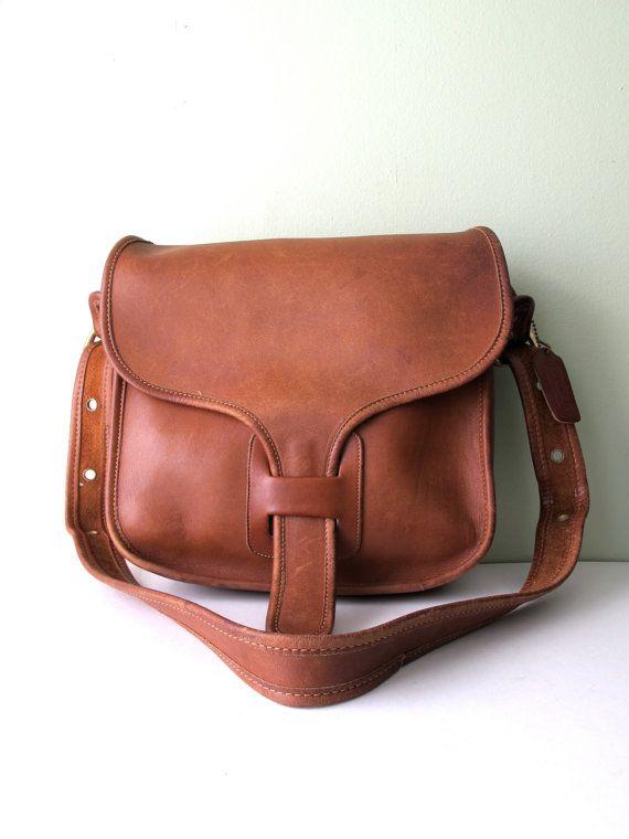 Coach Saddle Bag Rare Courier Messenger Bag Coach