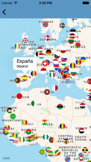 World In Colors Countries Capitals Flags IPhone X IPad - List of world countries and capitals
