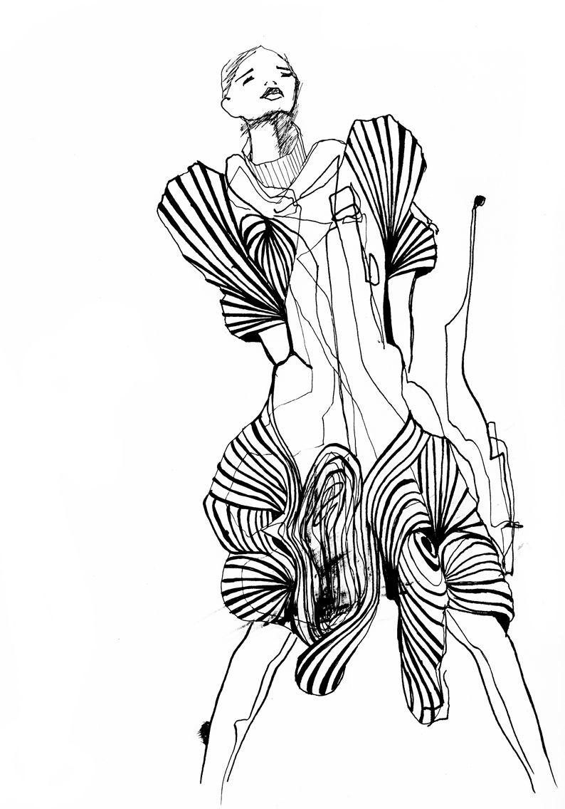 iris van herpen set4 illustrated by inge duiker