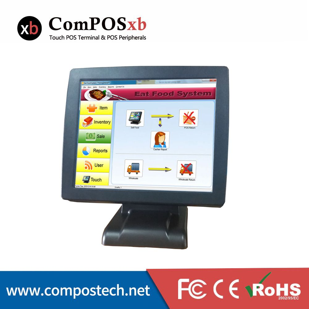 15 inch POS machine terminal touch screen POS system with