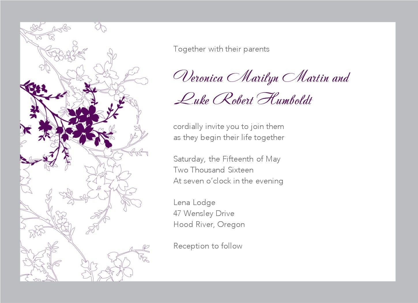 free wedding invitation templates for word- What\'s so intriguing ...