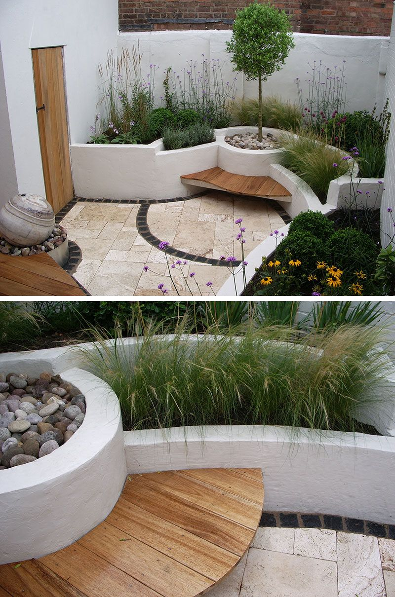 10 inspirational ideas for including custom concrete planters in your yard      the painted built