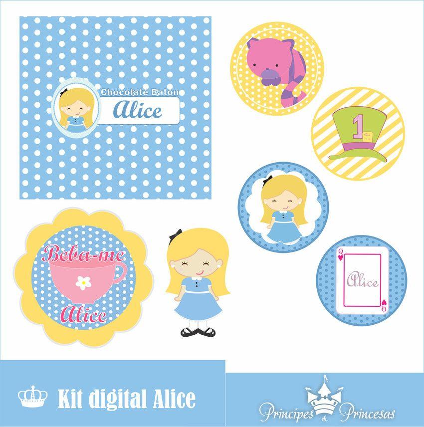 Papelaria Digital Alice No Pais Das Maravilhas O Kit Digital E