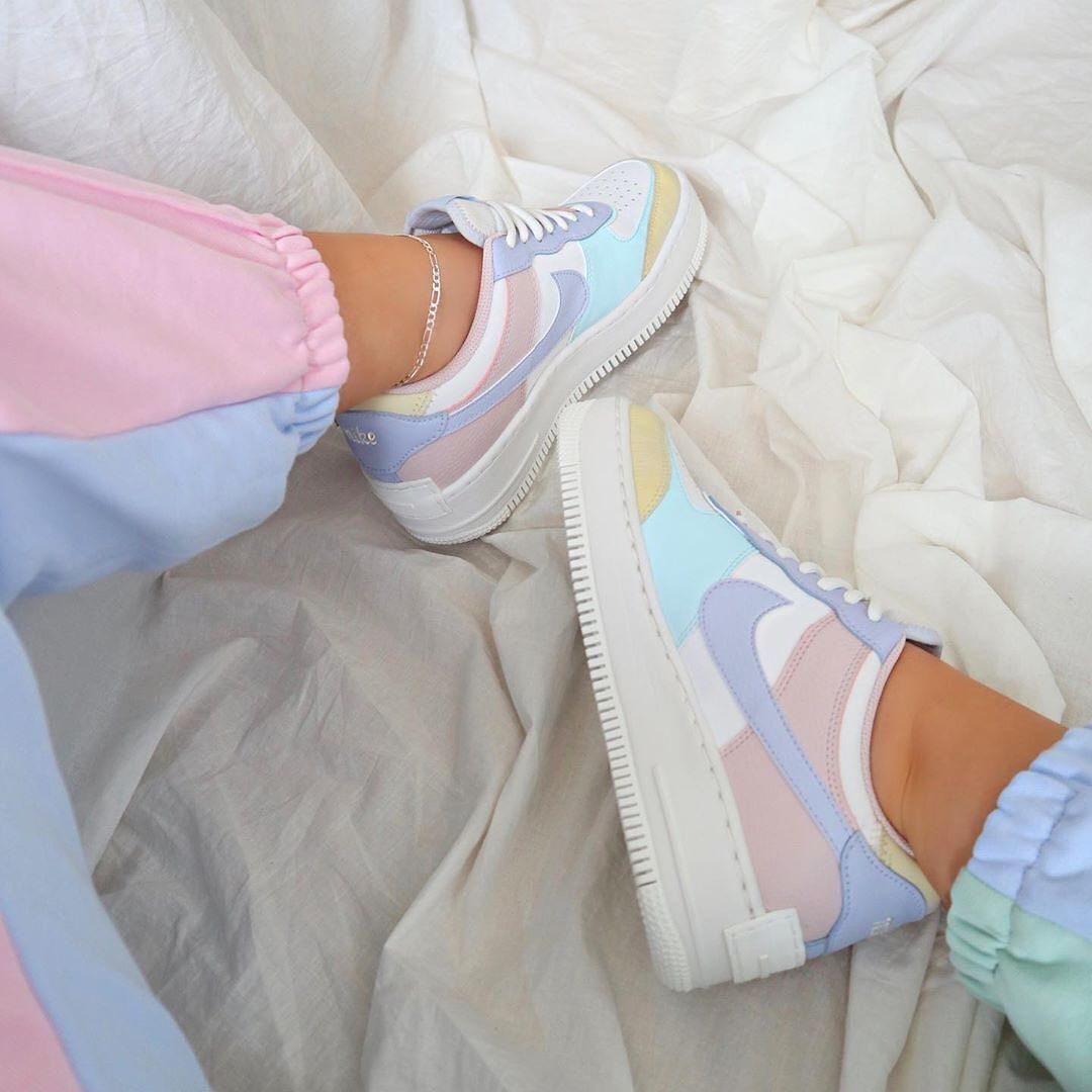 The Sole Womens On Instagram Restock Alert This Pastel Air Force 1 Shadow Has Just Fully Restocked At Foot Lock Nike Shoes Women Pastel Shoes Nike Air Shoes Nike air force 1 shadow: nike shoes women