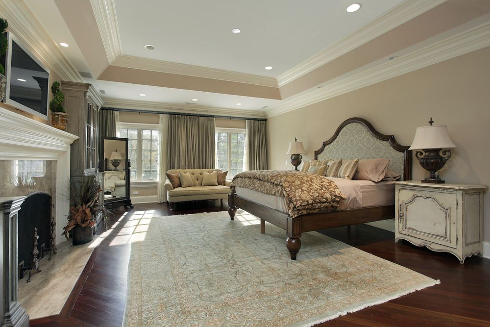 to our master bedrooms with recessed lights photo