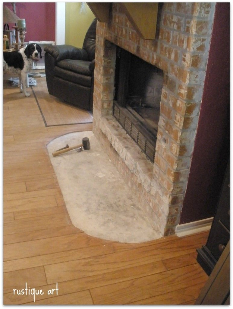 Demolition Clean Up Fireplace Hearth Brick Hearth Fireplace