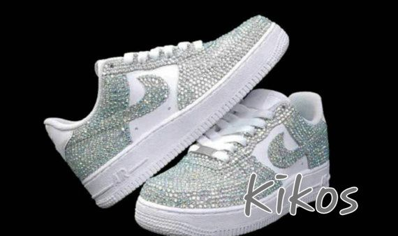 This is a listing for Swarovski Nike Air Force Nikes are