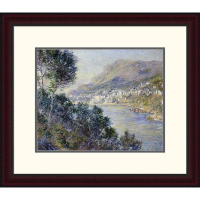 Global Gallery 'A View of Cape Martin, Monte Carlo' by Claude Monet Framed Painting Print Size: