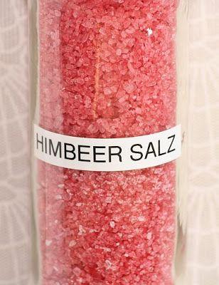 Kreative Ideen rund ums Basteln, Scrapbooking , Kochen und Backen: Himbeer Salz #weihnachtsmarktideenverkauf