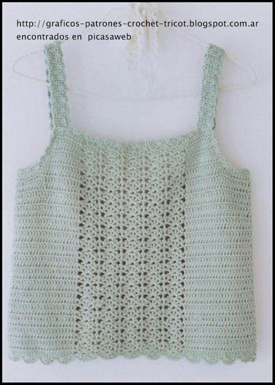 musculosas crochet - Buscar con Google | blusas de crochet ...