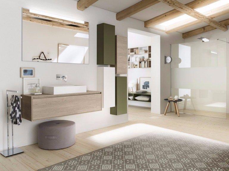 Sistema bagno componibile PERFETTO  - Composizione 3 Collezione Perfetto  by INDA® design Sergio Brioschi