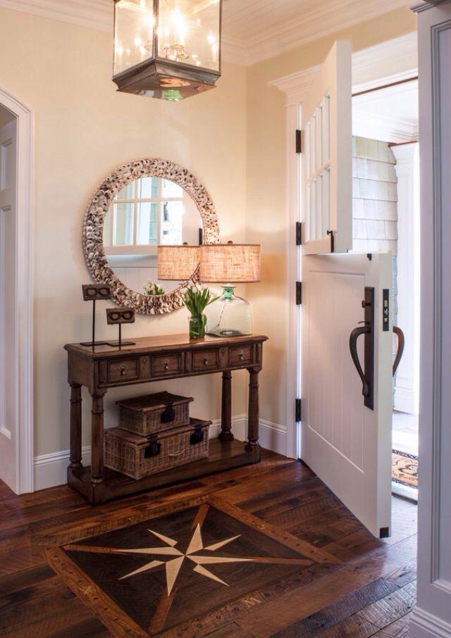 Hardwood floors with nautical inlay entrée Pinterest Entrée - creer une entree dans une maison