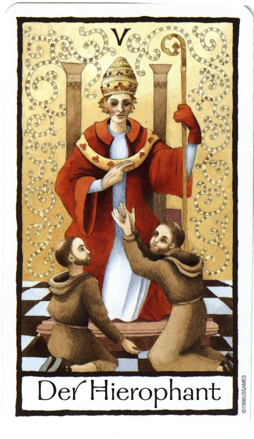 Old English Charm: The Hierophant From The Old English Tarot