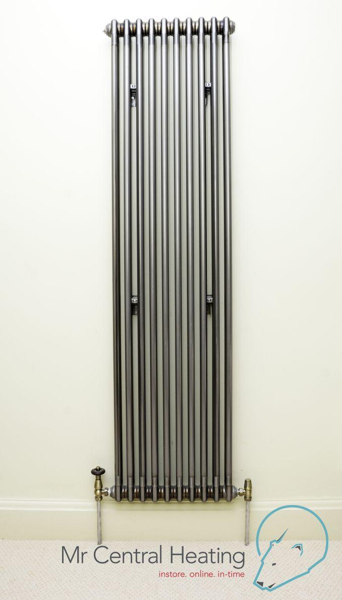Vertical Raw Metal Column Radiators With Bentley Traditional