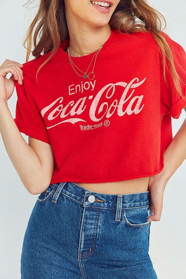 d5e90d8a30d045 Slide View  1  Junk Food Coca-Cola Cropped Tee