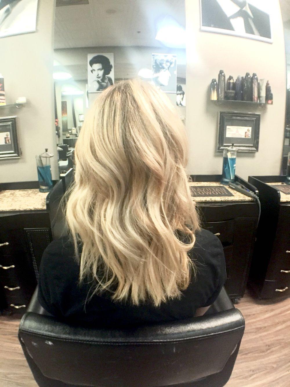 Blonde hair created by megan jones at idéologie salon in ormond