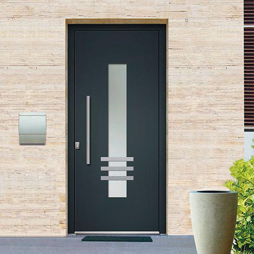 Porte DEntre Monobloc Aluminium Emalu Mohawk Disponible En Gris