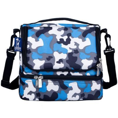 93cd39456958 Wildkin Camo Double Decker Lunch Bag In Blue | Products | Bags ...