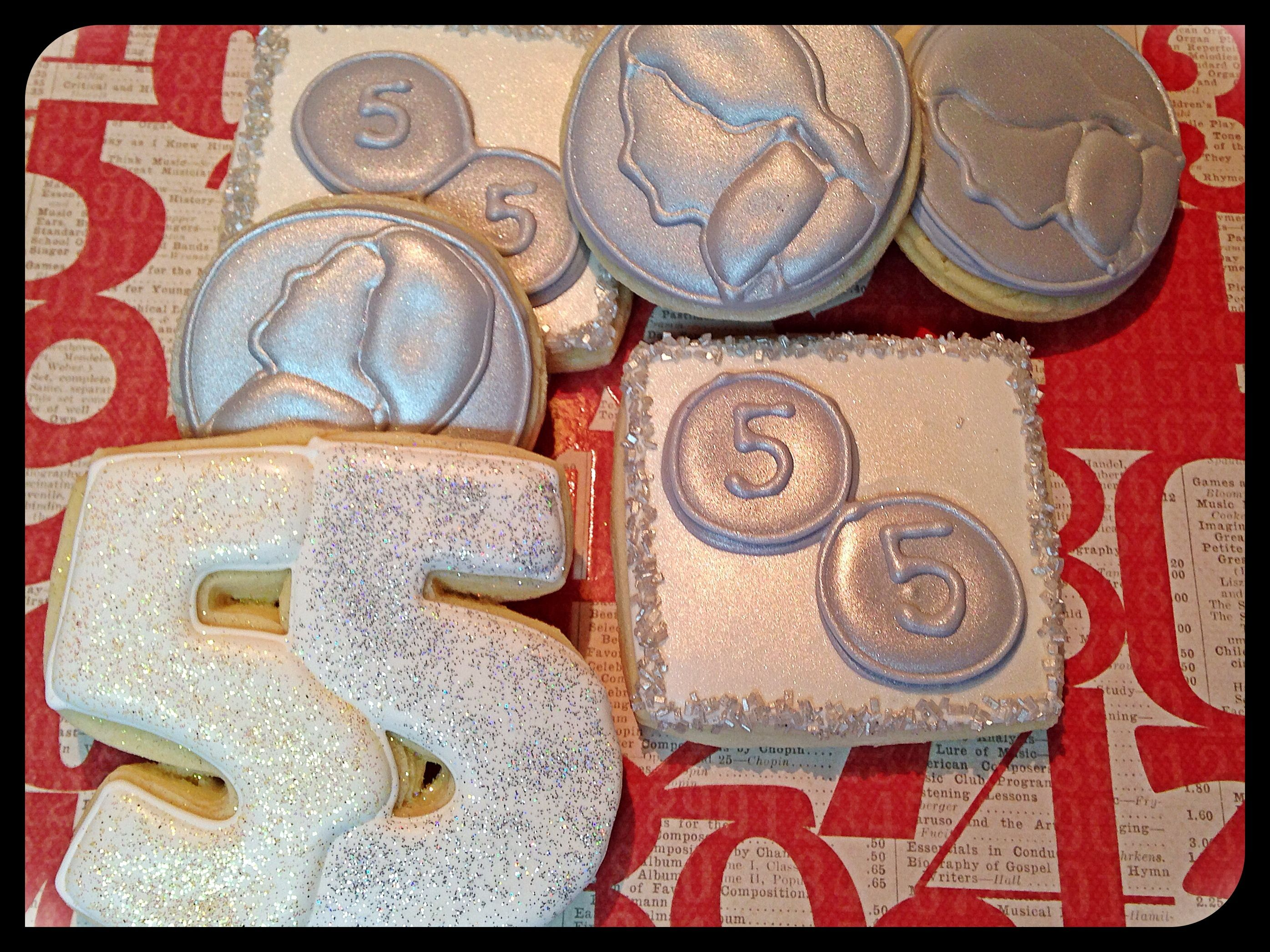 For A Friends Double Nickel Or 55th Birthday Coin Cookies