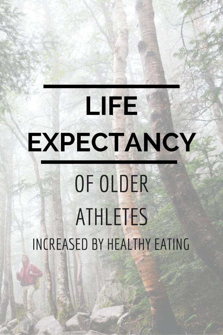 Life Expectancy of Older Athletes Increased by Healthy Eating
